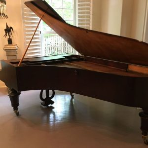 grand piano in a living room