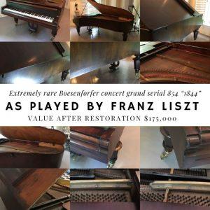Rare Boesenforfer concert grand piano